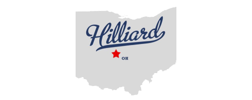 State of Ohio with hilliard labelled